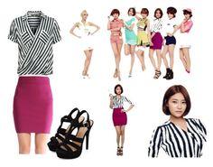 """AOA- Short Hair (Yuna)"" by taylor3154 ❤ liked on Polyvore featuring moda e Patrizia Pepe"