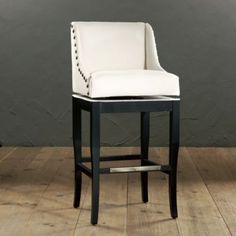 Marcello Barstool with Brass Nailhead Trim.  Choose your fabric and finish.  Ballard Designs.