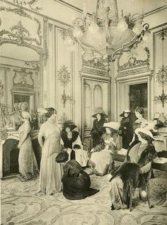 Edwardian Paris Fashion Houses: 45 Amazing Vintage Photos Capture Beautiful Ladies in Tailor Stores in the Edwardian Dress, Edwardian Era, Edwardian Fashion, Vintage Fashion, 1900s Fashion, Victorian Dresses, Vintage Pictures, Old Pictures, Old Photos