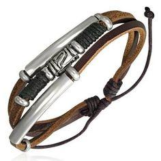 Cool Mens Bracelets, Surfer Bracelets, Fashion Bracelets, Leather Bracelets, Surf Style Men, Surfer Style, Guy Style, Leather Men, Brown Leather