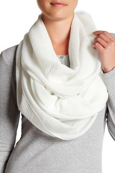 Pleated Infinity Scarf