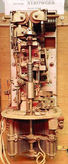 Strowger switch - Wikipedia, the free encyclopedia Telephone Exchange, Electric Company, Microsoft Windows, Nostalgia, Memories, Technology, History, Free, Vintage