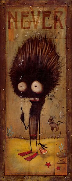 Johan Potma never play with matches funny monster illustrated paintings