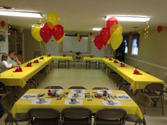 Firefighter Mickey Mouse Party Decor