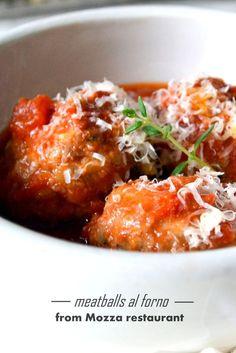 meatballs al forno from Mozza Restaurant