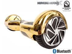 HoverboardX HBX-2 Gold UL 2272 Certified with Bluetooth