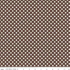 Riley Blake Designs, Small Dots in Cream Brown (C610 90) - 1 yard