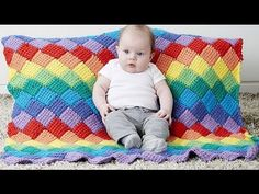 Learn how to make a Tunisian Entrelac Blanket that is down in rows. There is a free pattern to follow and you can just follow along with Mikey too. Get the f...