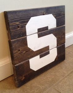 Michigan State S Sign  Wood Wall Art by MittenMadeDesigns on Etsy