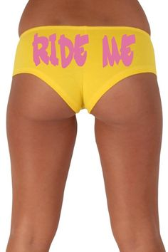 Women's Sexy Hot Booty Boy Shorts Ride Me Gothic Pink Bold Style Type - SHORETRENDZ