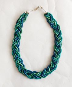 Seed beaded braid necklace