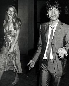 Jerry Hall and Mick Jagger, 1980. Photo by Ron Galella.