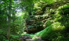 Originally known as Shades of Death, now Shades State Park - Located in Montgomery, Parke and Fountain County, Indiana