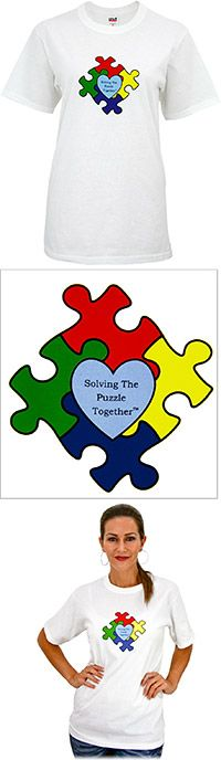 I really like this shirt! Solving The Puzzle Together™ T-Shirt at The Autism Site