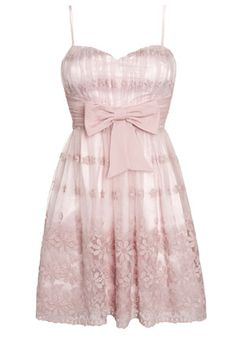 Ice Blossom Bow Detail Lace Prom Dress