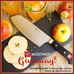 "Win a @wusthof CLASSIC 7"" Hollow Edge Chai Dao! Enter #giveaway at afarmgirlsdabbles.com."
