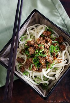Dan Dan Noodles by Citrus and Candy, via Flickr. Dan Dan Noodles is a Chinese Sichuan dish and it is pure street food.  Full recipe