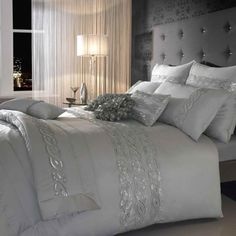 Kylie Sequins Wave Silver Bedding Set – Next Day Delivery Kylie Sequins Wave Silver Bedding Set from WorldStores: Everything For The Home