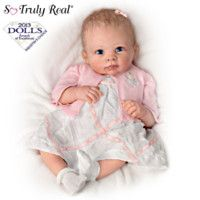 301811001 - Realistic Baby Girl Doll By Artist Linda Murray