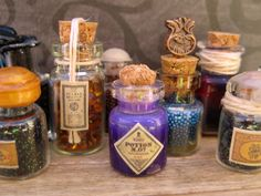 Miniature Glass Bottle filled with Harry Potter inspired Purple Potion Number 7. $21.95, via Etsy.