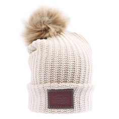 White Speckled Pom Beanie (Natural Pom) – Love Your Melon