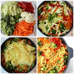 One Pot Veggie Yakisoba Recipe