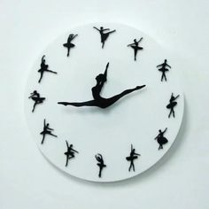 Ballerina Clock Ballerina Clock,Fotka The Ballerina Clock makes the perfect gift for yourself or anyone who loves ballet or dancing! Watch as the ballerina's legs dance around the clock. The ballerina's legs represent the. Ballet Moves, Ballet Dancers, Ballerinas, Ballerina Wallpaper, Ballerina Legs, Diy And Crafts, Paper Crafts, Wall Watch, Ideias Diy
