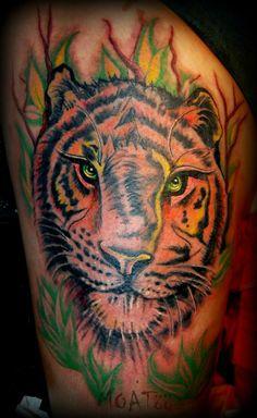 Diseño original ✙ Tigre ..:.:..Monart Tattoo..::.. www.monartattoo.com