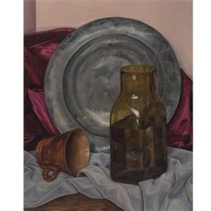 """""""Harmony in Gray and Brown,"""" Luigi Lucioni, 1966, oil on canvas, 22 x 18.3"""", private collection."""