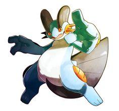 "alternativepokemonart: "" Artist Swampert by request. Pokemon Agua, Water Type Pokemon, All Pokemon, Pokemon Team, Pokemon Stuff, Pokemon Images, Pokemon Pictures, Dragon Ball, Pokemon Starters"