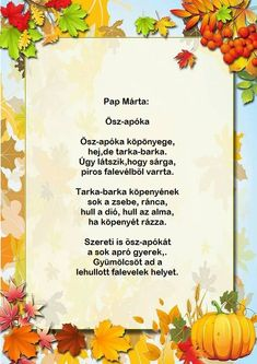 Verses, Diy And Crafts, Kindergarten, Poems, Autumn, Manualidades, Fall, Kinder Garden, Scriptures