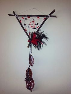 Dreamcatcher- Red and black