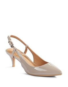 Shoes | Heels & Pumps | Patent Leather Slingback Pumps | Hudson's Bay