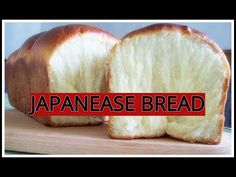 Japanese bread with milk . Japanese Bread, Cook N, Biscotti, Bakery, Milk, Make It Yourself, Doughnuts, Pizza, English