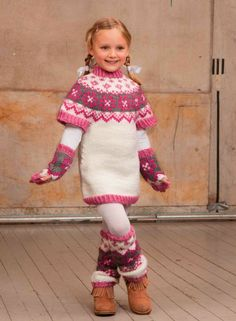 Katalog 1201 - Viking of Norway free pattern Crochet Dress Girl, Knit Baby Dress, Knitted Baby Clothes, Knitting Patterns Boys, Irish Crochet Patterns, Knitting For Kids, Fair Isle Knitting, Knitted Dolls, Baby Girl Dresses