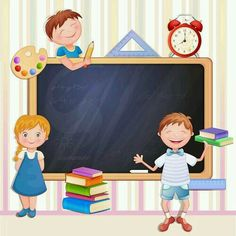 Buy Back to School Illustration with Happy Kids by loradora on GraphicRiver. Back to school illustration with happy kids. School Days, Art School, Back To School, School Border, School Frame, School Clipart, Borders And Frames, School Decorations, Cartoon Kids