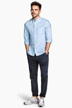 Spodnie chinos Slim fit - Ciemnoniebieski - ON Stylish Mens Outfits, Stylish Boys, Casual Outfits, Smart Casual Menswear, Men Casual, Casual Styles, Formal Men Outfit, Herren Outfit, Slim Fit Chinos