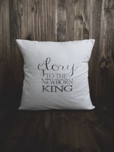 Newborn King 16 x 16 Christmas Pillow Cover, seasonal home decor, present, housewarming gift, cushion cover, throw pillow