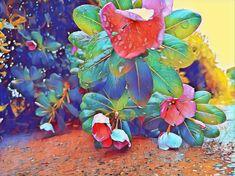 Periwinkle Flowers, Nature, Plants, Painting, Art, Art Background, Naturaleza, Painting Art, Kunst