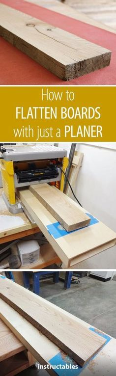 How to Flatten Boards With Just a Planer #woodworking #tips