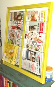 My own DIY Magazine Rack made from a wooden picture frame