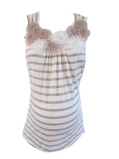 Penny Tank in Pink and Cream by Lavish Maternity - Maternity Clothing - Flybelly Maternity Clothing