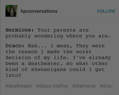 Don't ship it but good point Draco