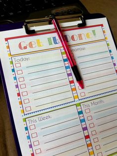 Free To Do List Printable ~ could be laminated and contacted to students desks or lockers to improve organisation