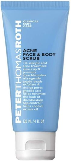 New Acne Face & Body Scrub, Salicylic Acid Acne Face Body Wash, Clears Up Helps Prevent Acne Blemishes, Exfoliates Unclogs Pores online shopping - Annetrendyfashion Acne Blemishes, Acne Skin, Acne Scars, Acne Face, Pimples, Peter Thomas Roth Acne, Salicylic Acid Acne, Natural Acne Remedies, Natural Cures
