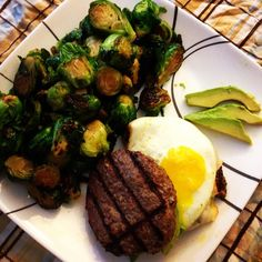 Oh yes! So good! Antelope burger with egg, avocado and Brussels sprouts. I eat food I love! #cleaneating #eatrealfood #food #eatcleangetlean #paleo #primal #primalpotential #delish #weightloss #fitness #loseweight #transformation #wholefoods #whole30 #goals #healthy