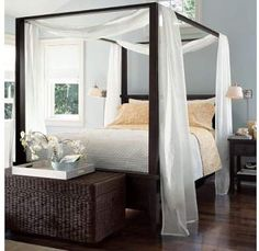 7 Interesting Tips: Entrance Canopy Lighting canopy bed modern.Bedroom Canopy Curtains how to make a canopy bed. Dream Bedroom, Home Bedroom, Master Bedroom, Bedroom Decor, Bedroom Ideas, Bedroom Inspiration, Canopy Bed Curtains, Canopies, Wood Canopy