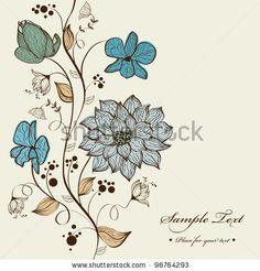 stock vector : Vector floral background design