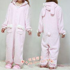 149.00 CNY pink rabbit pajamas