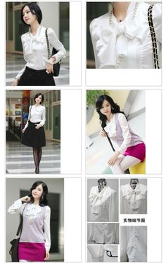 Lady Noble Elegant Ribbon Shirt White - $31.12 on @ClozetteCo